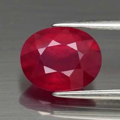 Only! $75.89/1pc 11x9mm Oval Natural Top Red Ruby, Mozambique