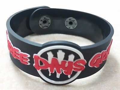 New Three Days Grace Rubber Bracelet Wristband Unisex Black Souvenirs Day Wb60
