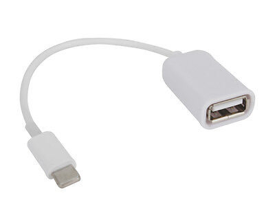 Camera Connection to USB Female OTGCable Adapter Reader For iPad 4 iPad mini IFA