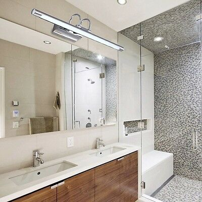 Stainless Steel LED Mirror Lights Acrylic 3W Bathroom Wall Lamps Make-up Lights
