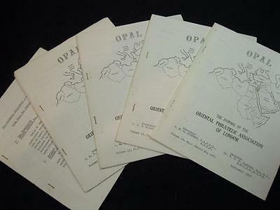 OPAL - JOURNAL OF ORIENTAL PHILATELIC ASSOCIATION VOLUME 13 No's 1-4 11/70-5/71