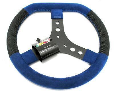 KG Flat Top Steering Wheel Blue UK KART STORE