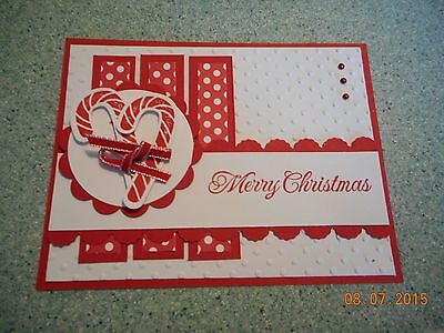 Stampin Up Christmas Card Handmade Marry Christmas Candy Canes - KIT