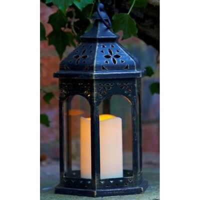 Smart Garden Moroccan Lantern Candle Garden Light Battery Operated Outdoor LED