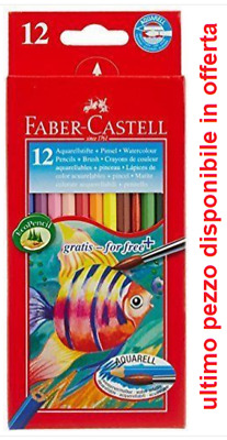 Matite Colorate Acquerellabili Faber Castell 12 Pastelli Colorati Assortiti