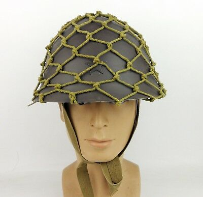 WWII Japanese Army Helmet  With Cutton Net Cover Camouflage net-D920
