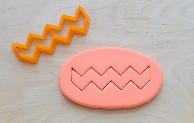 Chevron Cookie Cutter - 3d printed plastic