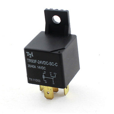 DC24V Coil Single Pole Double Throw 5Pin Power Relay for Car Auto