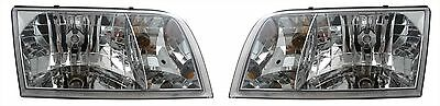 Ford Crown Victoria 03-04 Headlights Headlamps Pair Set Left & Right New