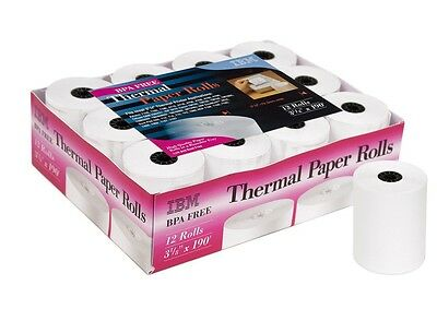 "IBM Thermal Paper Rolls 3 1/8"" X 190' - 12 Count"