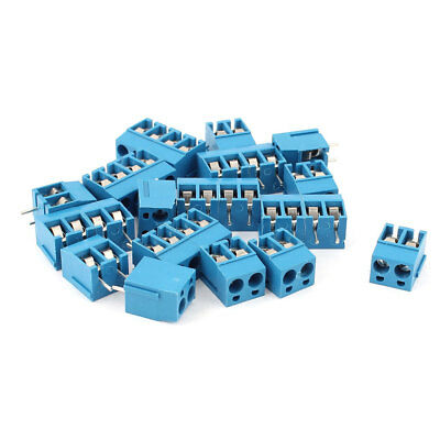 300V 10A 5.08mm Pitch 2P PCB Mount Screw Terminal Block Connector 24pcs