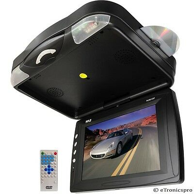 """Pyle 12"""" Lcd Roof Mount Drop Down Car/truck/rv Monitor Dvd Player New"""