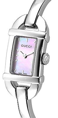 NEW GUCCI watch 6800 pink pearl dial board YA 068581 Women's From Japan to wolrd