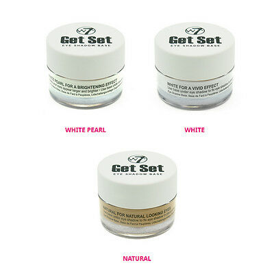 W7 GET SET Eye Shadow Base Primer White / White Pearl / Natural Nude