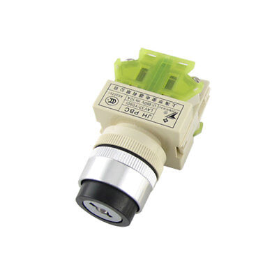 AC 660V 10A 2 Position Rotary Selector Select Switch Key Lock 23.5mm 1 NO 1 NC