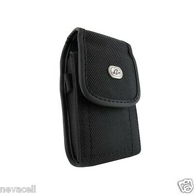 Canvas Case Pouch Holster Clip for Net10/Straight Talk LG Optimus Q LGL55C L55c