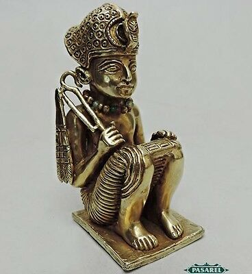 Rare Unique Russian Gilt Silver Egyptian Revival Tutankhamen Figure Statue C1940