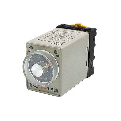 12VDC 0-10 Minutes 8P Screw Resistive Load Delay Timer Time Relay w Socket