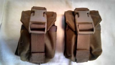 2 Usmc Issue Coyote M67 Grenade Pouch Mc-Fgc-1-Ms-Coy Eagle Industries