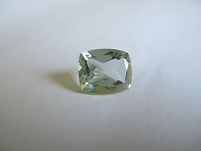 5.08ct Loose Antique Square Cut Light Green Quartz Gemstone 12 x 10mm