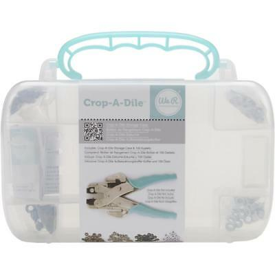 Crop-A-Dile Teal Carrying CASE +400 Eyelets We R Memory