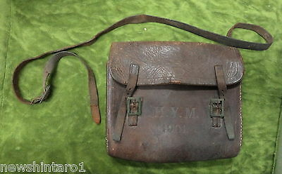 #mm. 1901 H.y.m. Leather Messenger Bag