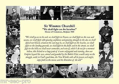 "Winston Churchill ""We shall fight on the beaches"" Speech 4th June 1940 - WWII"