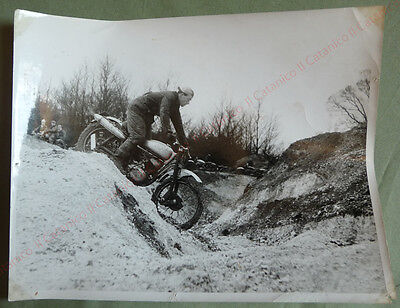 Vintage photo of Motorcycle Trials racing sports photographer Len Thorpe 60's _1