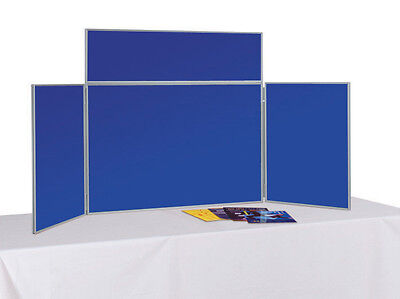 Desktop Exhibition Stand - Folding Display Boards - 3 panel kit with free velcro