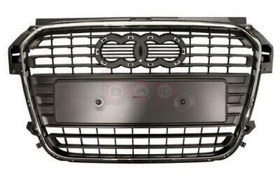 Audi A1 2010 - 2015 Front Bumper Centre Grille With Chrome Dark Grey