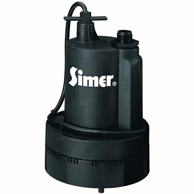 """Simer 2355 - Super Geyser 36 GPM (1-1/4"""") Thermoplastic Submersible Utility Pump"""