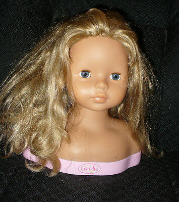 """9"""" Scented,  Little Girl Face,  Blond Hair Styling Head - Corolle 2004"""