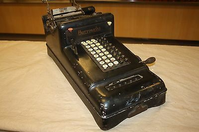 Antique Burroughs 5 Column Adding Machine ~Make Offer~ *Free Shipping*