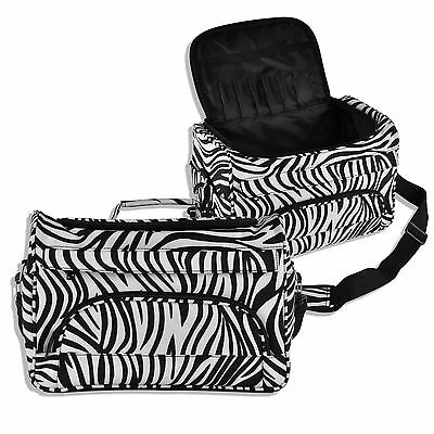 Luggage Travel Salon Hair Tools Hairdressing Zebra Carry Case Diaper Duffle Bag