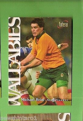 1996 Rugby Union  Card #2 Michael Brial, Wallabies