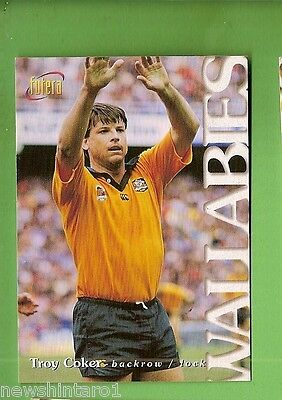 1996 Rugby Union  Card #5  Troy Coker, Wallabies