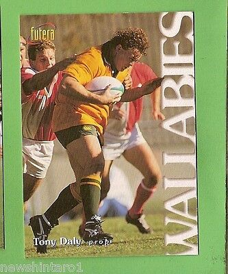 1996 Rugby Union  Card #7 Tony Daly, Wallabies