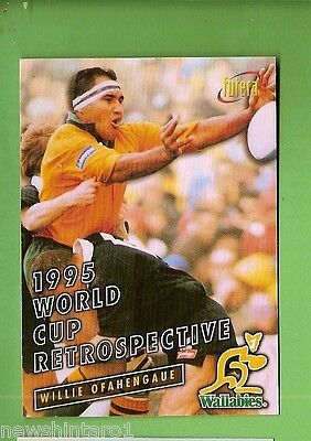 1996 Rugby Union  Card #88 Willie Ofahengaue, Wallabies