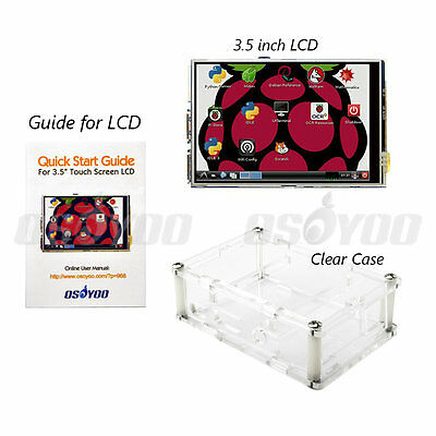 "3.5"" LCD Touch Screen Display Board + Case for Raspberry Pi 2 3 Pi2 Pi3 Model B+"