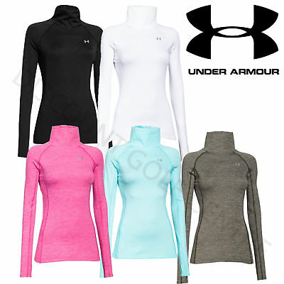 Under Armour Womens UA ColdGear Cozy Neck Golf / Sports Top - 1249973