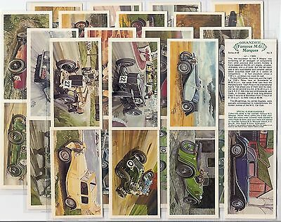 Players Grandee-Full Set- Famous Mg Marques Motor Cars - Exc+++