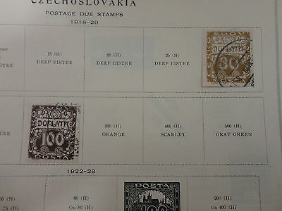 Lot of 2 Vintage Czechoslovakia Postage Stamps 1918-1920 On Page Make Offer