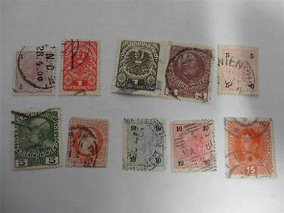 Collection of 10 Early 20th Century Austria Stamps Lot B - Make an Offer