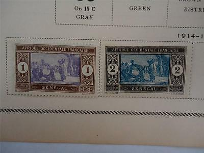 Lot of 2 Antique Senegal Postage Stamps 1914-1917 On Page Make an Offer