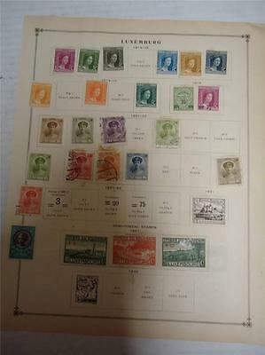 Lot of 36 Vintage Luxembourg Postage Stamps 1908-1922 - On Page - Make an Offer
