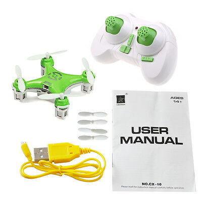 New Cheerson CX-10A CX10 Mini 2.4G 4CH 6Axis LED RC Quadcopter Gift UK STOCK