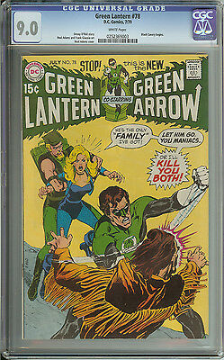 Green Lantern #78 Cgc 9.0 White Pages  // Neal Adams Cover