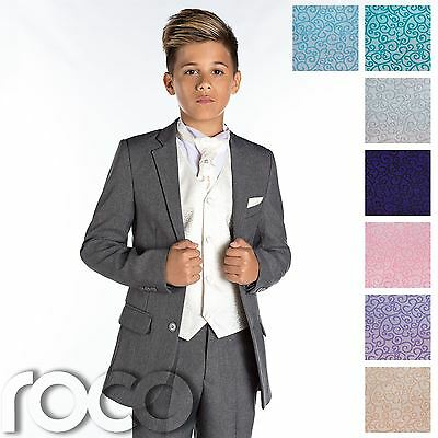 Boys Wedding Suit, Page Boy Suit, Boys Grey Suit, Grey Slim Fit Suit, Cravat