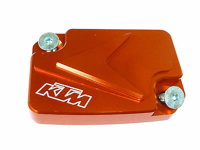 Ktm 125 200 390 Duke Front Brake Master Cylinder Lid Cap Cover Orange New B12I