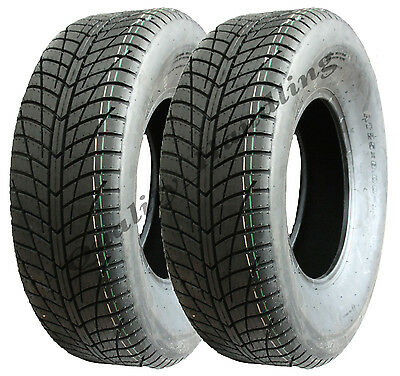 Two - 25 x 8.00-12 ATV quad tyres high speed road legal tyre buggy mower 25x8-12